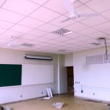 Execução das Instalações elétrica , ventilador das salas